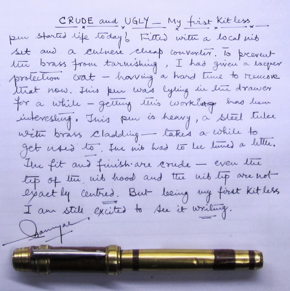Soumitra Pen collection: UGLY and DIABOLO !!
