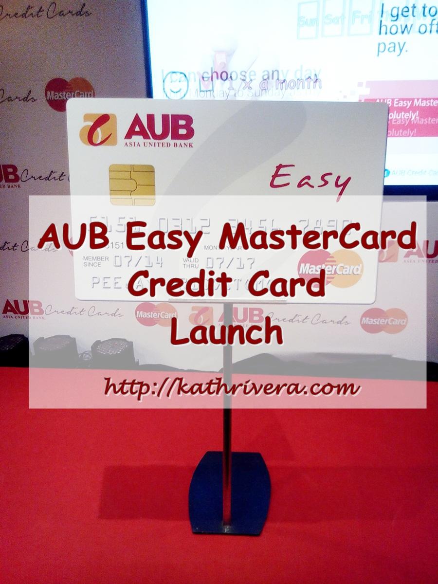 aub easy mastercard credit card launch  dear kitty kittie
