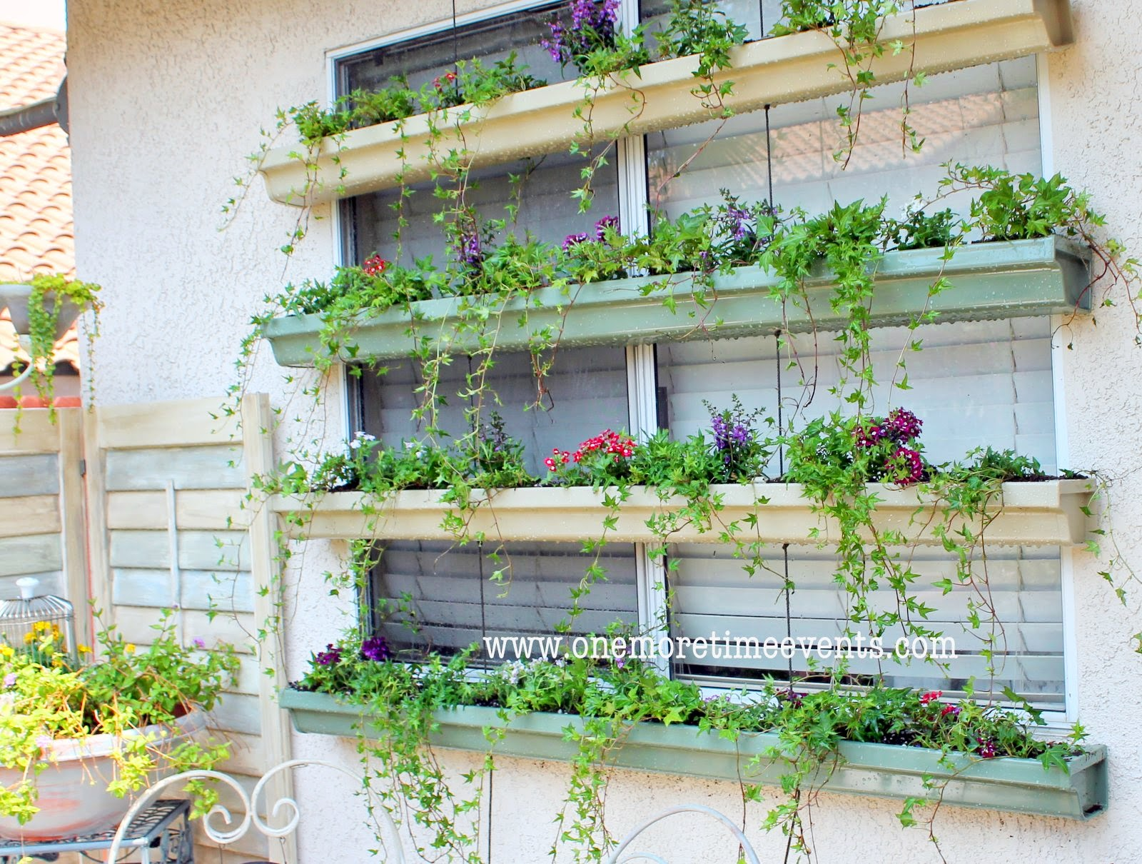 I Love That Junk Rain Gutter Planter Boxes One More