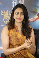 Rakul Preet Singh smiling Beautyin Brown Deep neck Sleeveless Gown at her interview 2.8.17 ~  Exclusive Celebrities Galleries 182.JPG