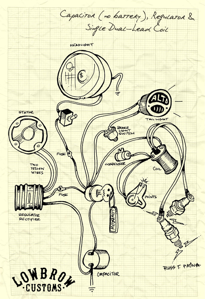 xs650 chopper wiring diagram guitar volume pot sparx battery eliminator sargent ~ elsalvadorla