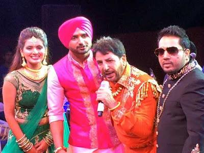 Harbhajan-Singh-Geeta-Basra-Gurudas-Maan-Mika-in-sangeet