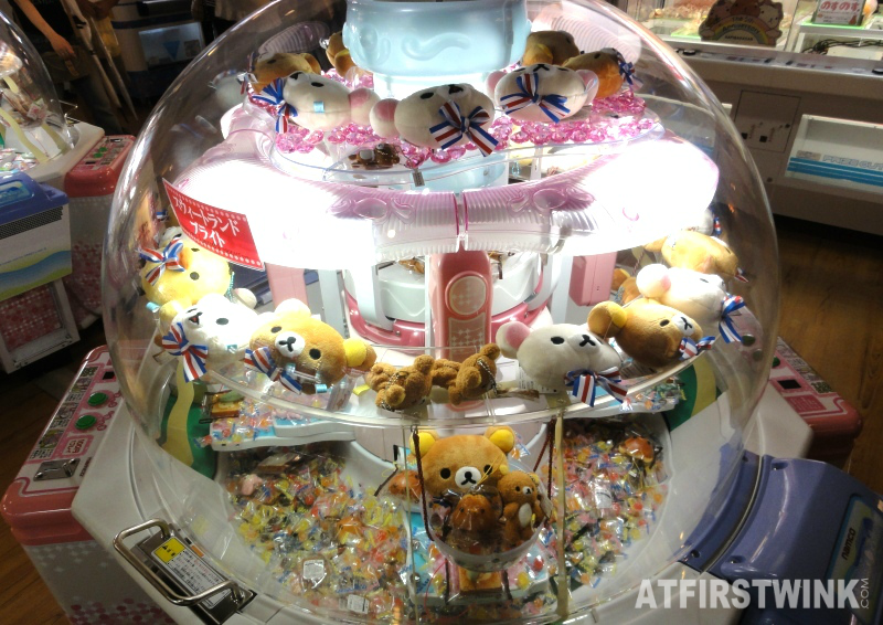doll grabbing machine ikebukuro japan rilakkuma
