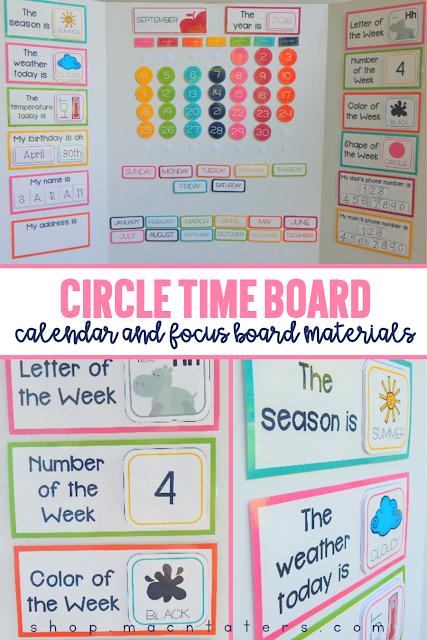 Circle Time Calendar Board