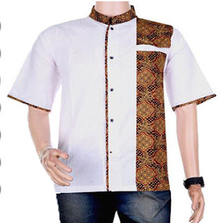 baju koko perpaduan batik