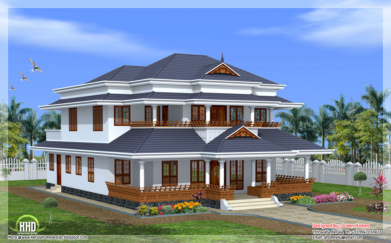 Vastu based traditional Kerala style home   KeRaLa HoMeS Left view of this house