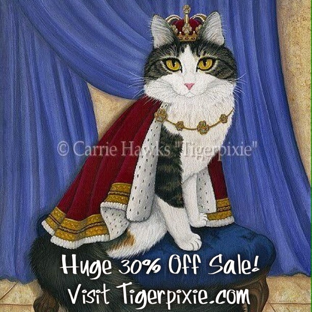 Prince Anakin The Two Legged Cat Painting by Carrie Hawks Tigerpixie.com
