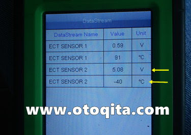 Datastream ECT sensor 2 high voltage