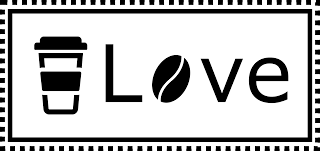 Public Domain Coffee Love Black and White Badge