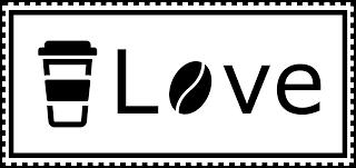 Public Domain Coffee Love Black and White Badge