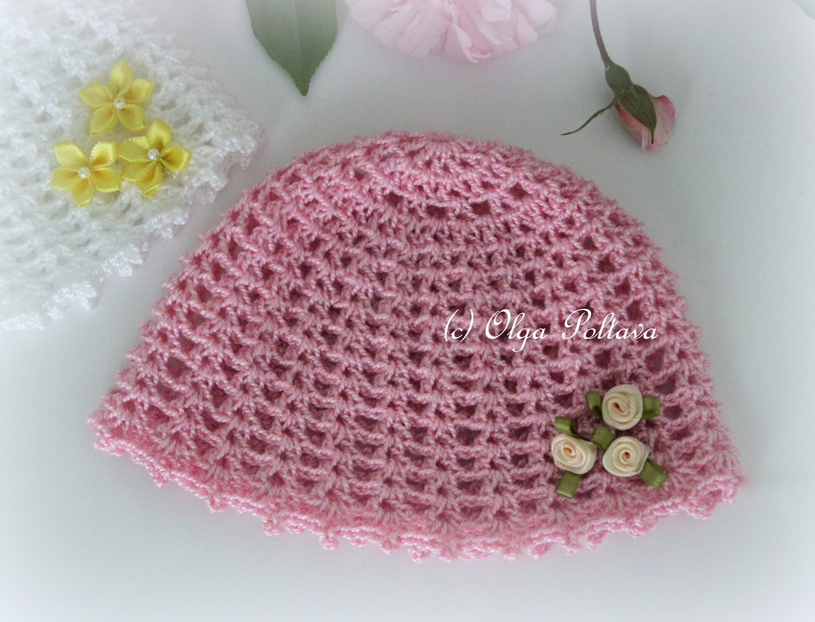 Lacy crochet preemie girls baby hat free crochet pattern preemie girls baby hat free crochet pattern bankloansurffo Image collections