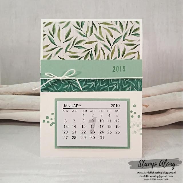 Stampin' Up! Frosted Floral Specialty Designer Series Paper - kalender 2019