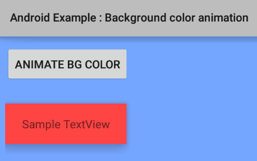 How to create a background color animation in Android