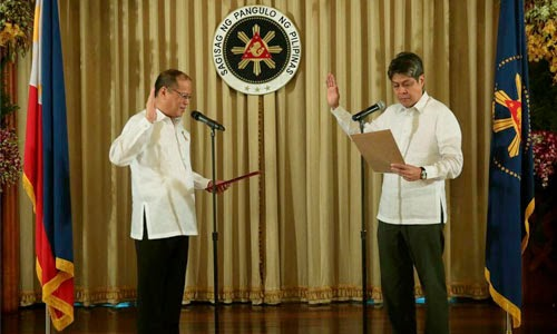 Secretary Pangilinan oath taking as PAFSAM