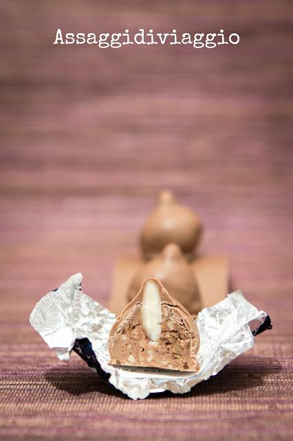 Baci al cioccolato al latte con fichi secchi cilentani, Passito di Pantelleria e mandorle