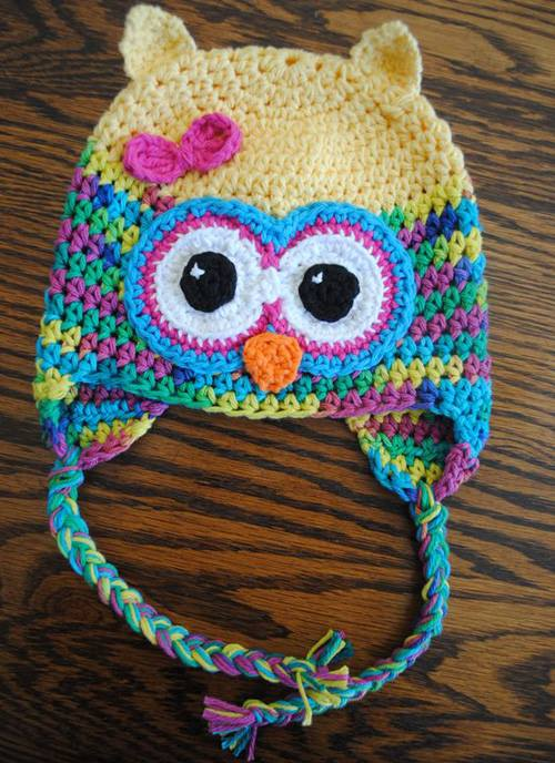 Crochet Owl Hat Pattern Yarn Crochet