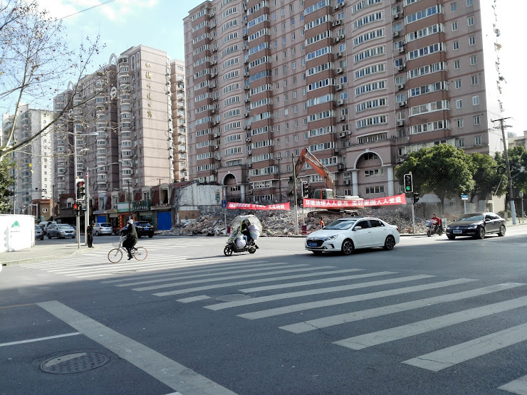 上海再開発の現場
