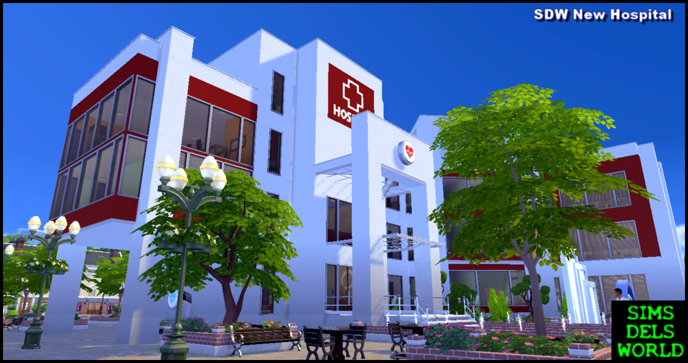 Simsdelsworld The Sims 4 Sdw New Hospital