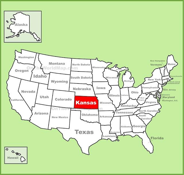 United States Map Map Of USA - Us map kansas