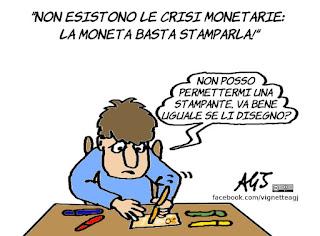 moneta, sibilia, crisi monetarie, economia, satira, vignetta