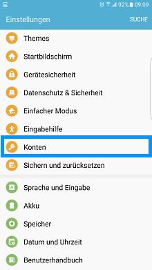 Wie kann ich ein vorhandenes Samsung Konto anmelden oder wie richte ich ein neues Samsung Konto auf meinem Smartphone ein?