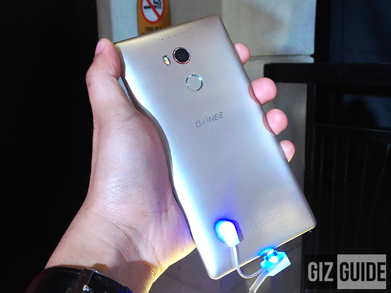 Gionee Elife E8 fingerprint sensor at the back