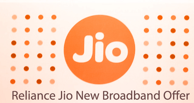 Reliance Jio New Broadband Offer, Only Pay .83 Paisa for 1 GB