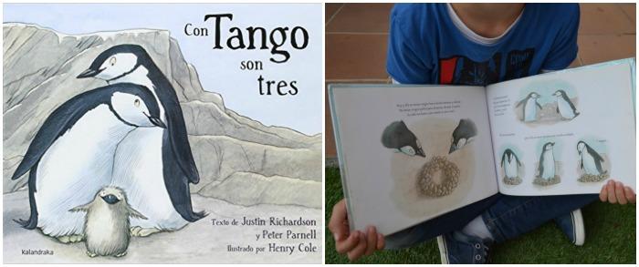 cuentos para enseñar valores niños: con tango son tres, tolerancia, diversidad familiar