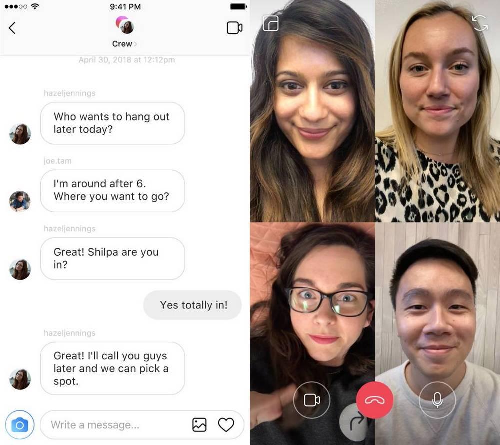 Video call grup di Instagram dulu mendukung 4 orang, sekarang jadi 6 orang (instagram.com)