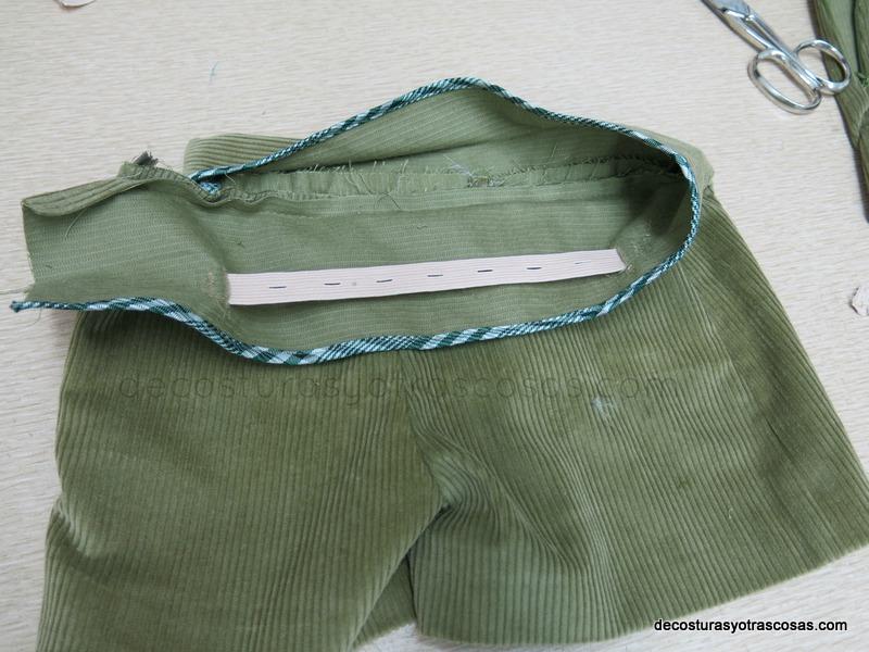 como hacer una cintura con regulador elástico