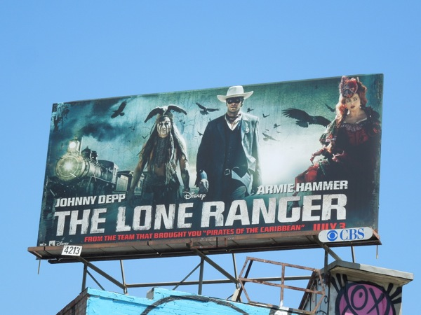 Lone Ranger movie billboard