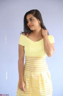 Shipra gaur in V Neck short Yellow Dress ~  068.JPG