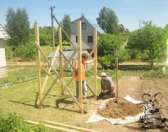 дачное строительство, как построить детскую площадку, процесс строительства