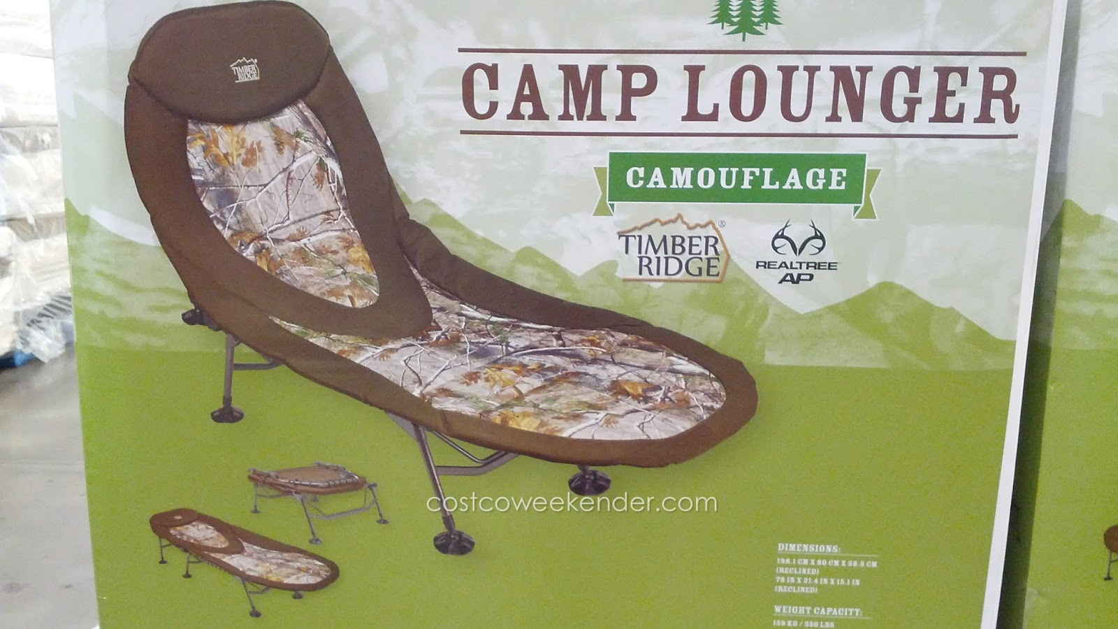 Hanging Chair Costco Kids Sleeper Timber Ridge Camp Lounger Cot Camouflage