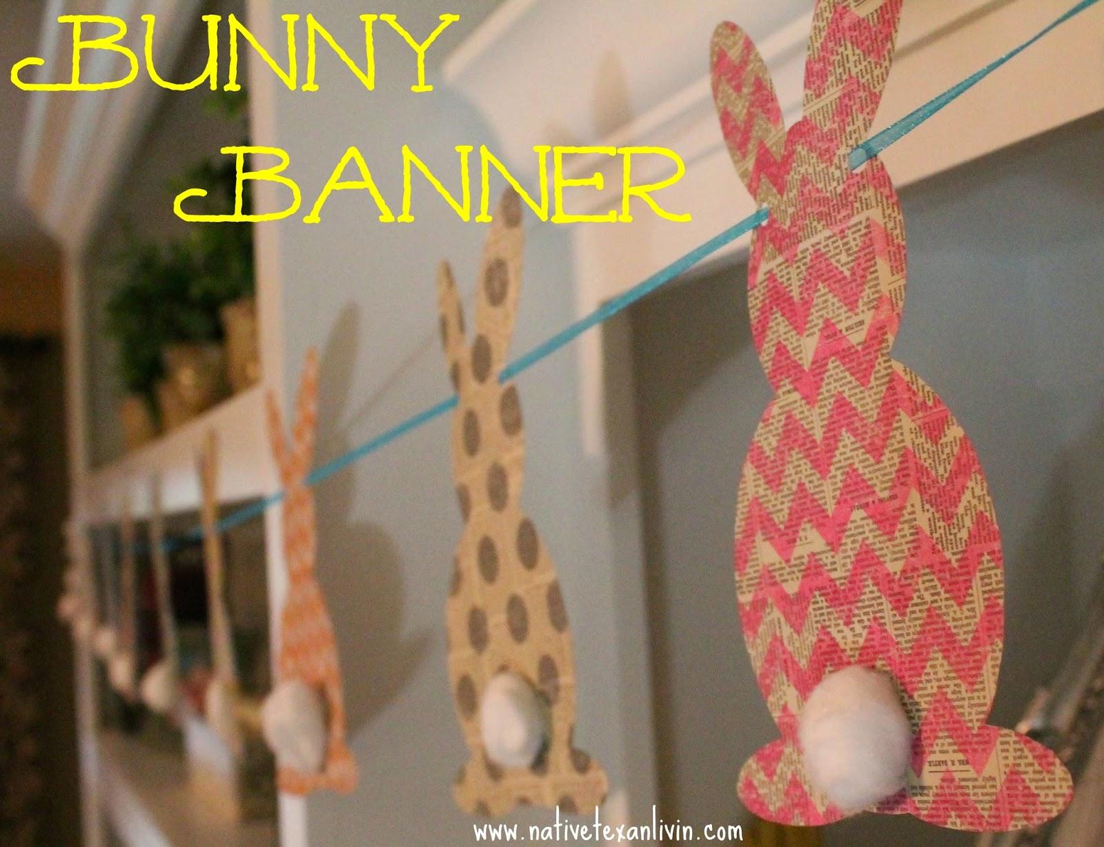 Easy DIY Bunny Banner