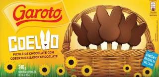 Chocolates Garoto Páscoa 2019 Sorvetes Formato Coelho