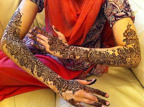 Full Arm Mehndi Designs : Beautiful latest simple arabic pakistani indian bridal girl mehndi