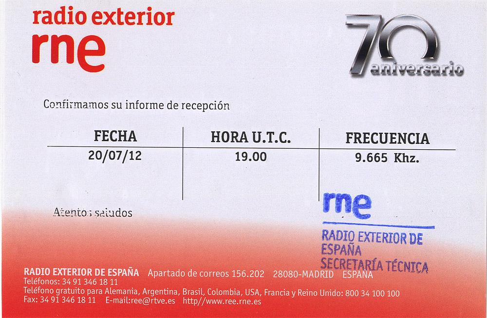 Radio Exterior de Espana (Noblejas) QSL