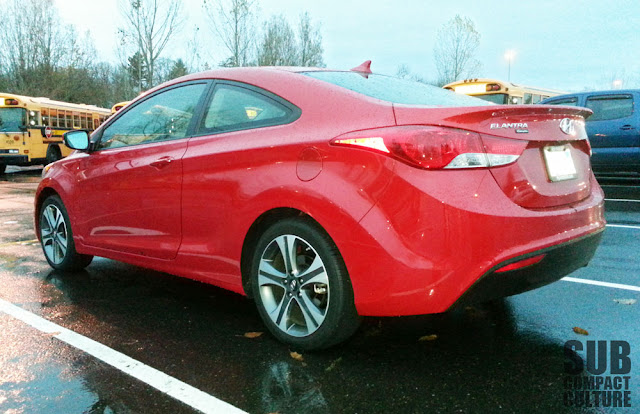 2013 Hyundai Elantra Coupe rear