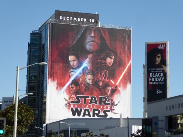Giant Star Wars Last Jedi movie billboard