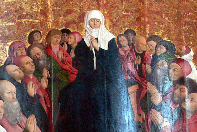 THIRTEENTH STATION OF VIA LUCIS: Mary and the Disciples Keep Vigil in the Upper Room for the Spirit's Advent
