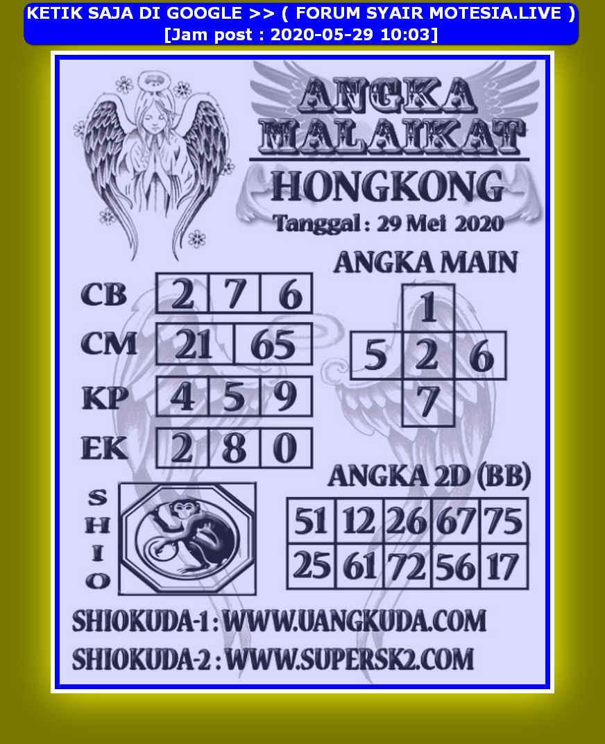 Kode syair Hongkong Jumat 29 Mei 2020 131