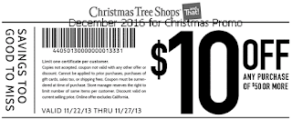 Christmas Tree Shops coupons december