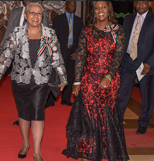 Margaret Kenyatta at a state dinner