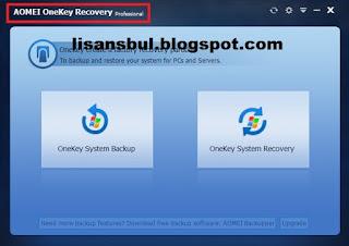 AOMEI OneKey Recovery Pro 1.6 full setup