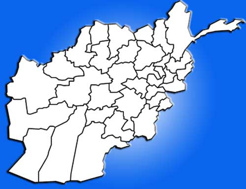 image: Afghanistan map blank white emboss