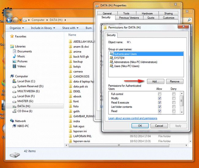 Cara Melakukan Sharing File / Folder dan Drive Pada Windows - TutorialCaraKomputer.com