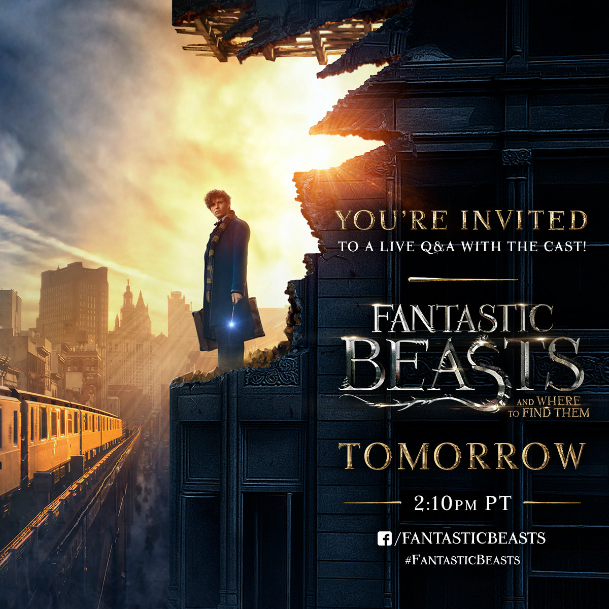 addicted to eddie new comic con 2016 poster for fantastic beasts. Black Bedroom Furniture Sets. Home Design Ideas