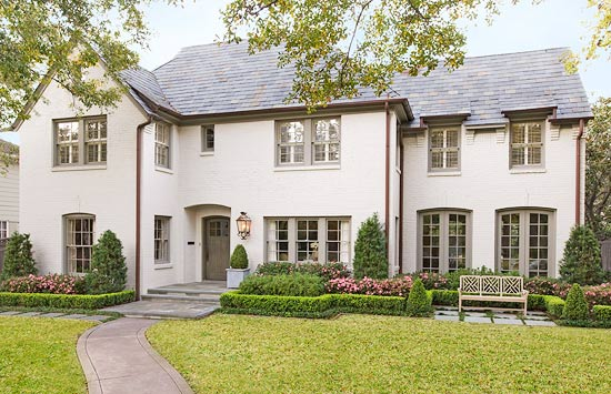 Gorgeous French Country style home exterior in Houston seen on Hello Lovely