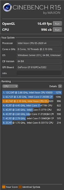 Cinebench Xeon E5-2650v4